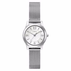Women's Timex Watch with Mesh Bracelet - Silver T2